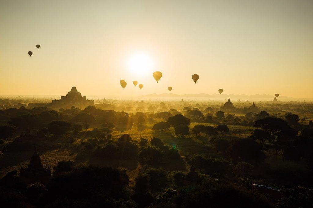 Vista de globos aéreos